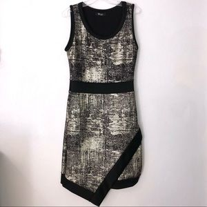 •deb• Black & Gold Metallic Party Dress